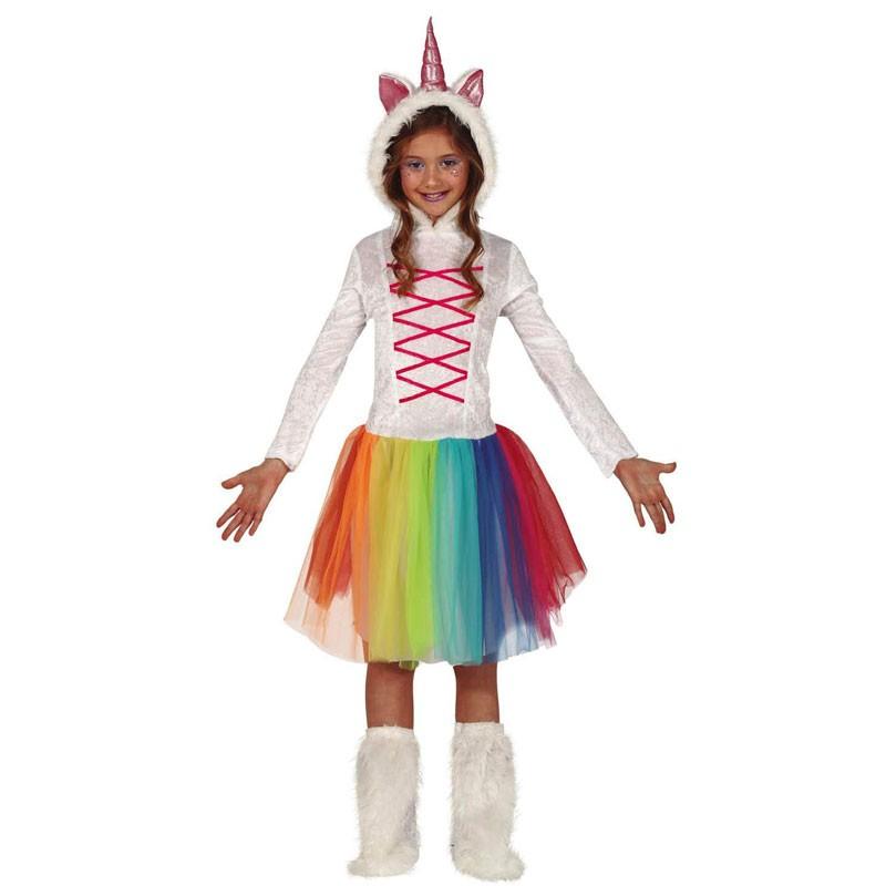 costume carnevale ragazzina unicorno 7-9 anni 83669