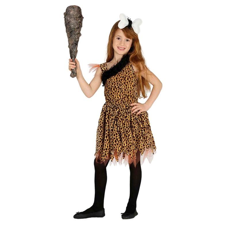 costune carnevale Cavernicola per Bambina età 7-9 Anni 87543