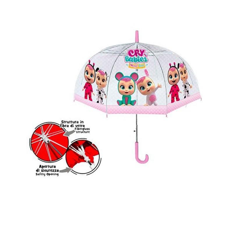 Ombrello Lungo Cry Babies Cupola PVC IT\'S RAINING KIDS Marta da Legare CB1144