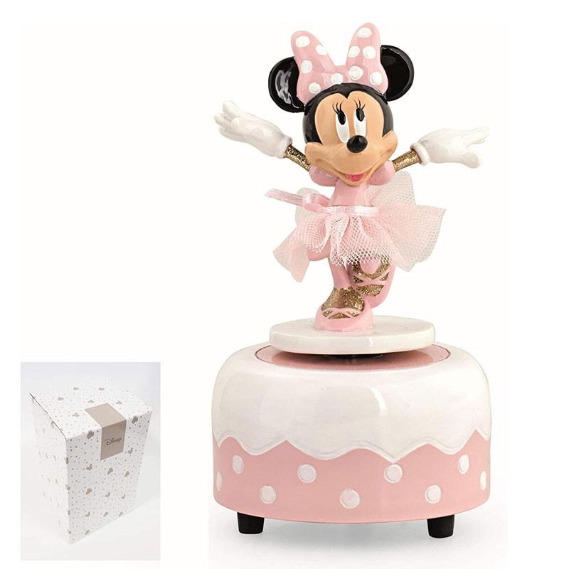 Bomboniera Decorazione Carillon Minnie Ballerina con Scatola 9 h13,9 cm 69560
