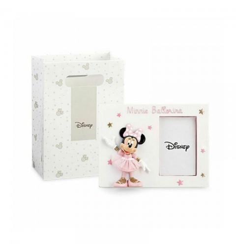 Cornice portafoto in Resina con Scatola shopper Disney Minnie ballerina 69559 15 x 11 cm