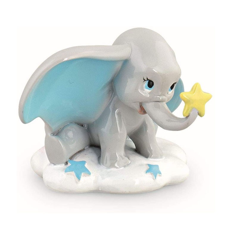 Elefantino Dumbo Azzurro in ceramica H 3,5 cm bomboniera 69552