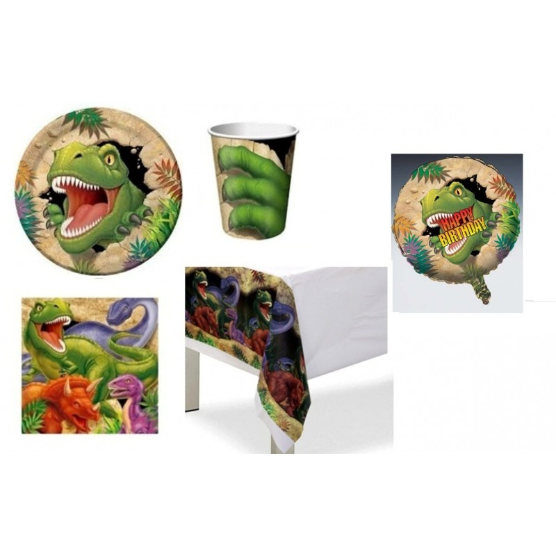 KIT N.10 - KIT COMPLEANNO DINOSAURI + PALLONCINO FOIL