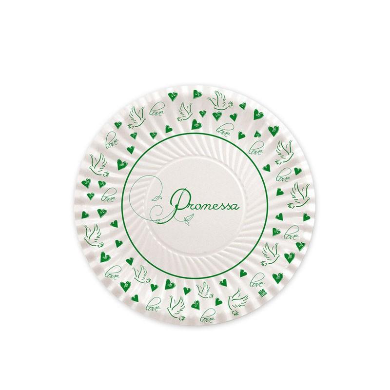 Piatti dessert Promessa Love 61771 18 cm 10 pz