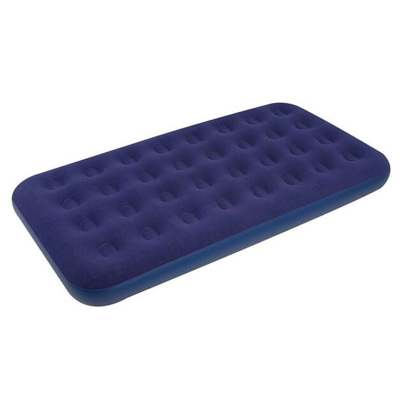 Materasso Gonfiabile Floccato blu 191 x 99 x 22 cm 061198