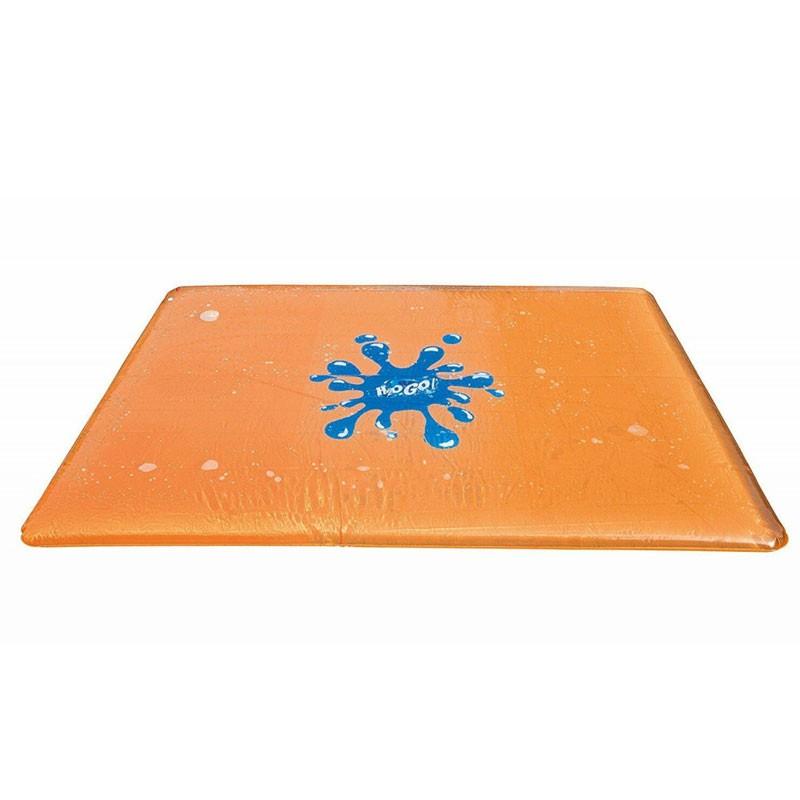 Tappeto ad acqua per bambini in vinile valvola di scarico e ugello che spruzza l\'acqua dal centro del tappeto, 400 x 10 x 300 c