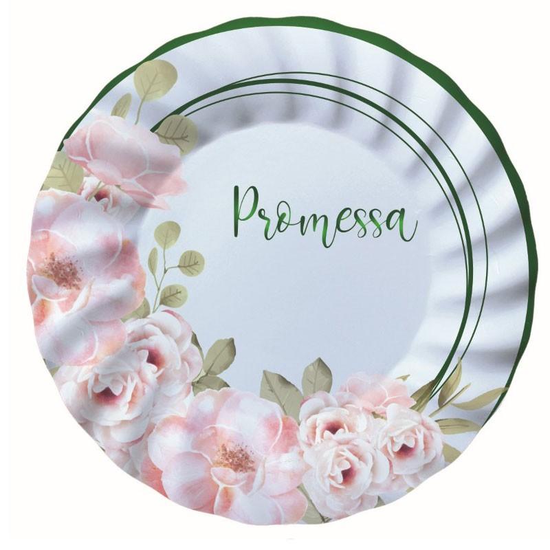 8 Piatti Ø 20 cm Promessa Floral 74580