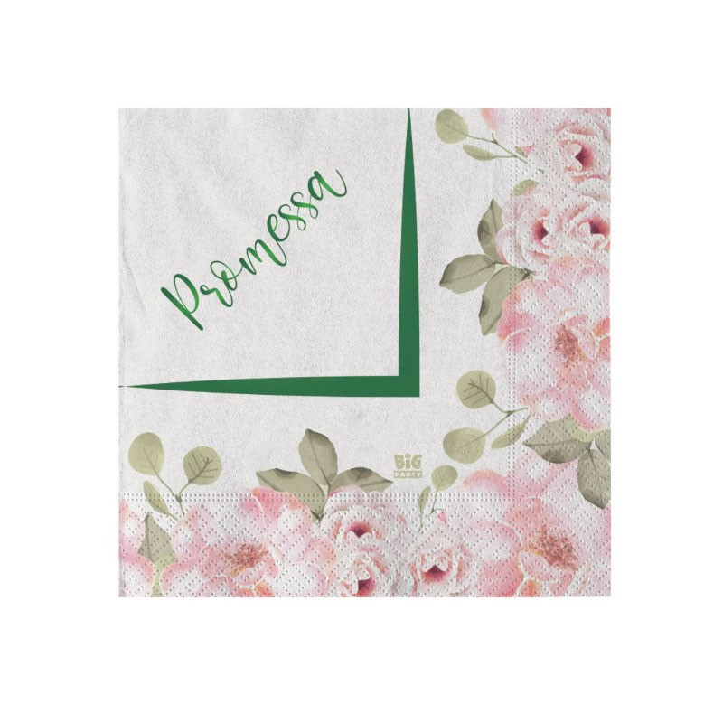 Tovaglioli promessa floral 20 pz. 74582 25 x 25 cm