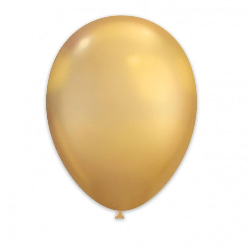 Palloncini Cromati oro 30 cm GC120/88 50 pz.