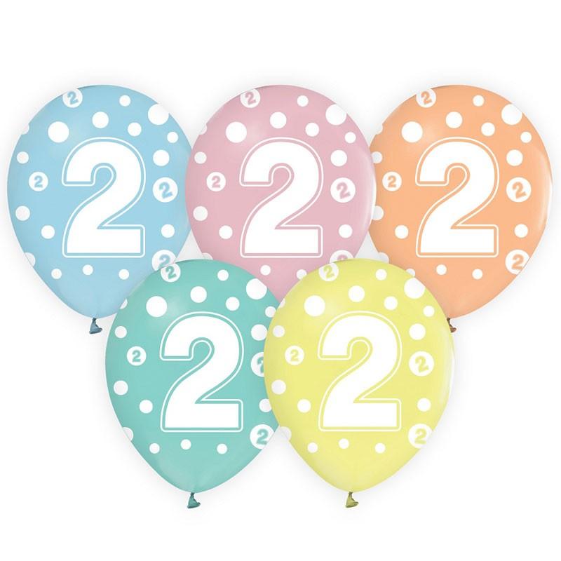 palloncini colori pastello n.2 5 pz. 30 cm GZ-CYF2