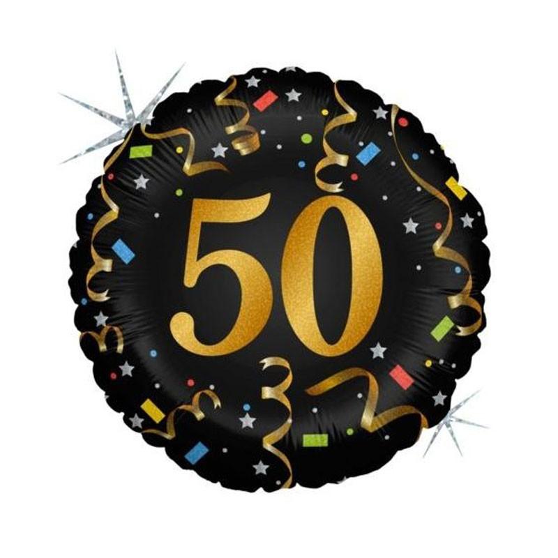 Palloncino Foil 50 Anni glitterato MEM49 45 cm