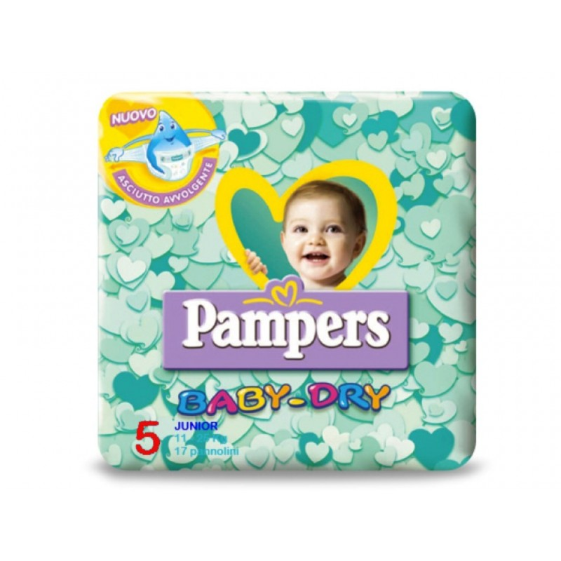 6 PACCHI PANNOLINI PAMPERS BABY DRY TAGLIA 4 114 PEZZI