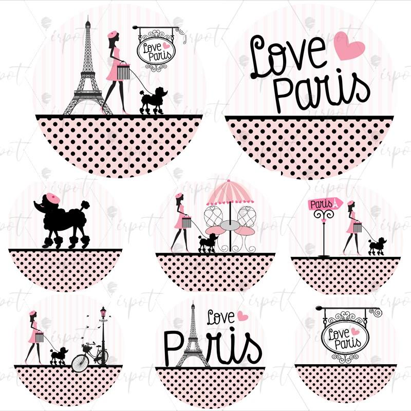 ADESIVO TONDO LOVE PARIS...