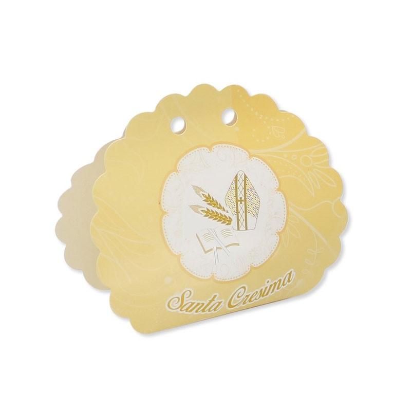 25 Scatoline portaconfetti Ventaglio smerlettato in carta 10 x 9 x 4 cm La Mia Cresima 81734