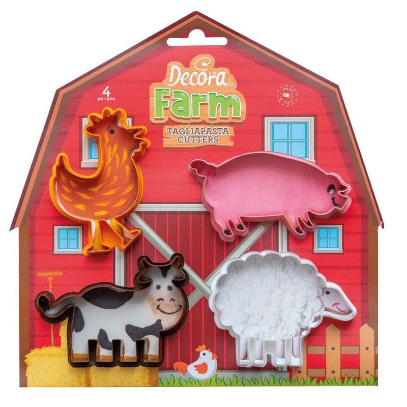 Set 4 Tagliapasta Animali della Fattoria 0255040