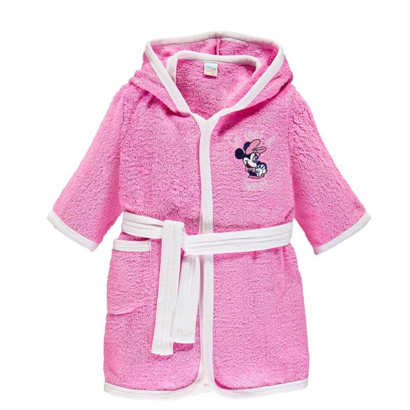 Accappatoio In Spugna Minnie per bambine Rosa 12 mesi WB7009 4046