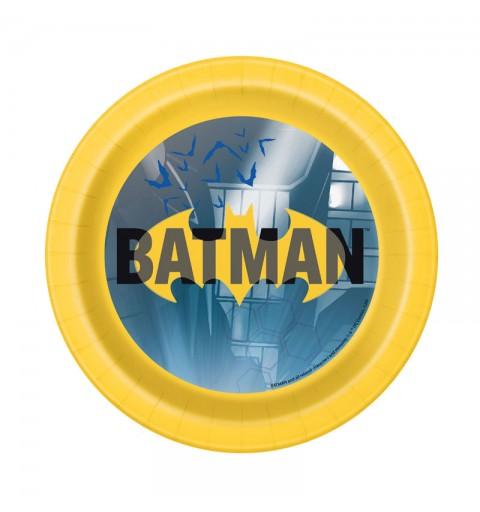 Piatti dessert batman 17,1 cm 77514 8 pz.