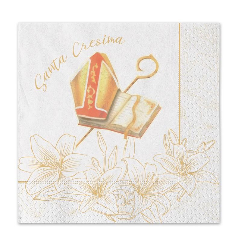Tovaglioli Cresima flower 74571 20 pz.
