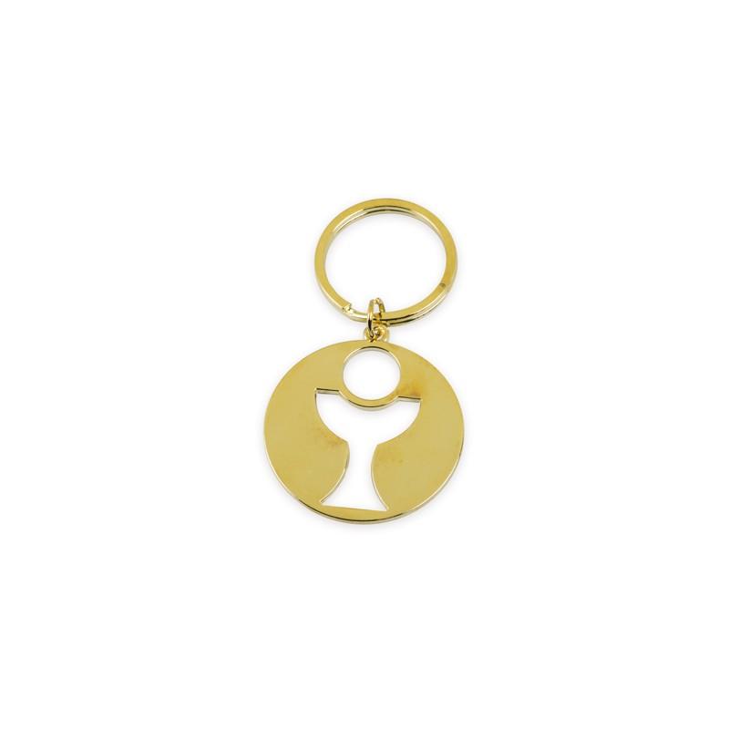 Portachiavi calice colore oro PC19504 diametro 4 cm 1 pz.