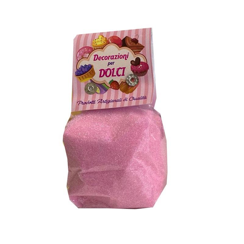 sabbiolina rosa 200 gr. decorazioni per dolci