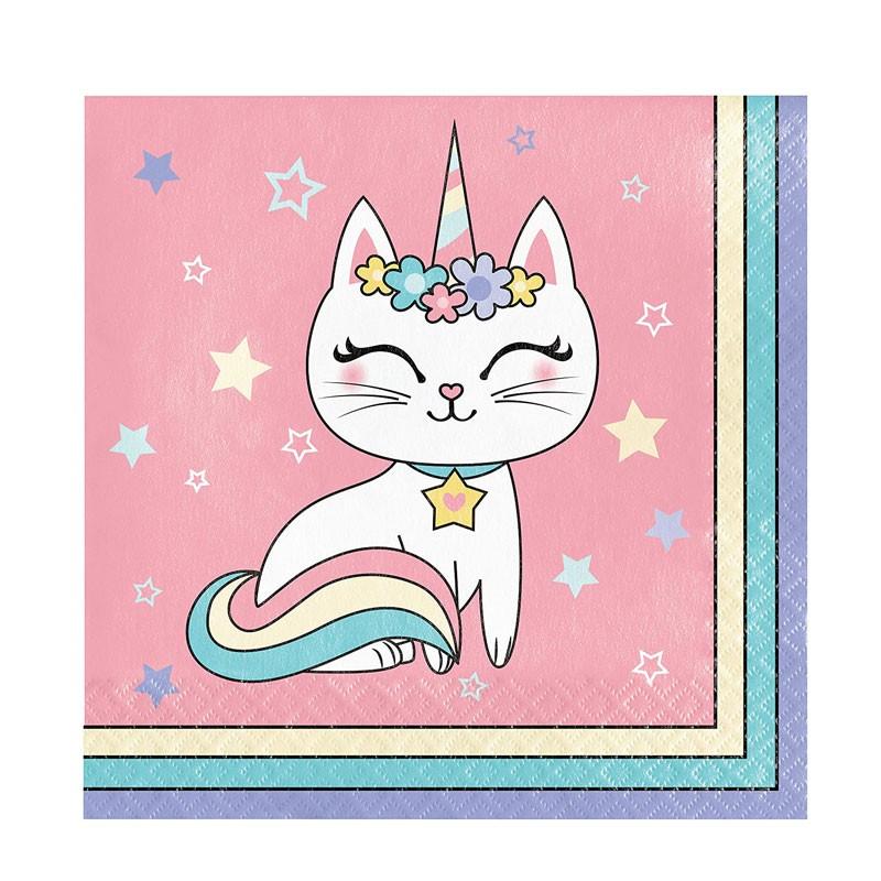 tovaglioli sassy unicorn 16 pz. 346250