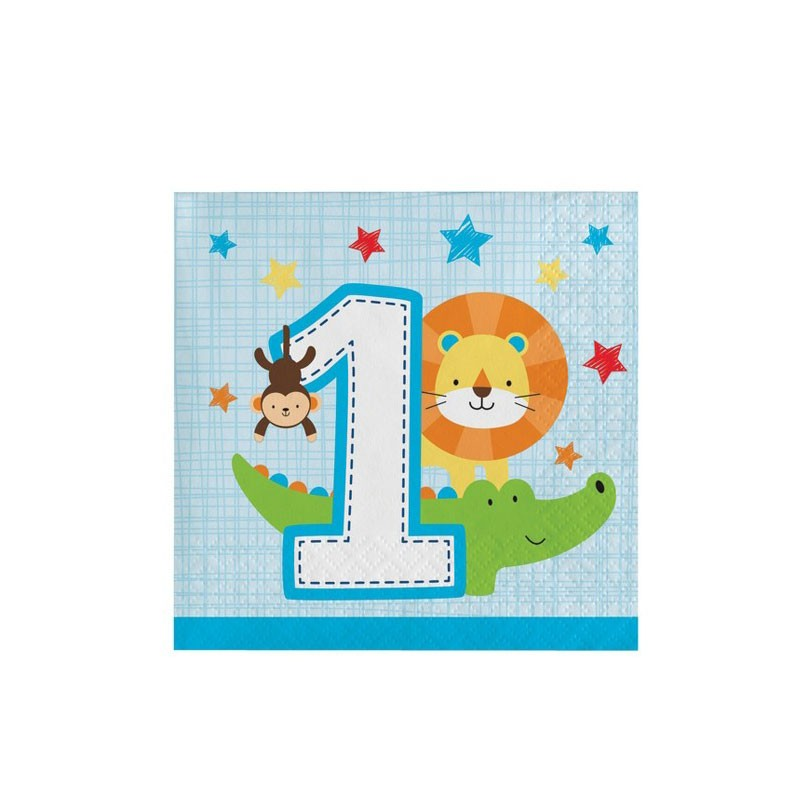 Tovaglioli 1 Anno One Is Fun - Boy 16 pz. 25 x 25 cm
