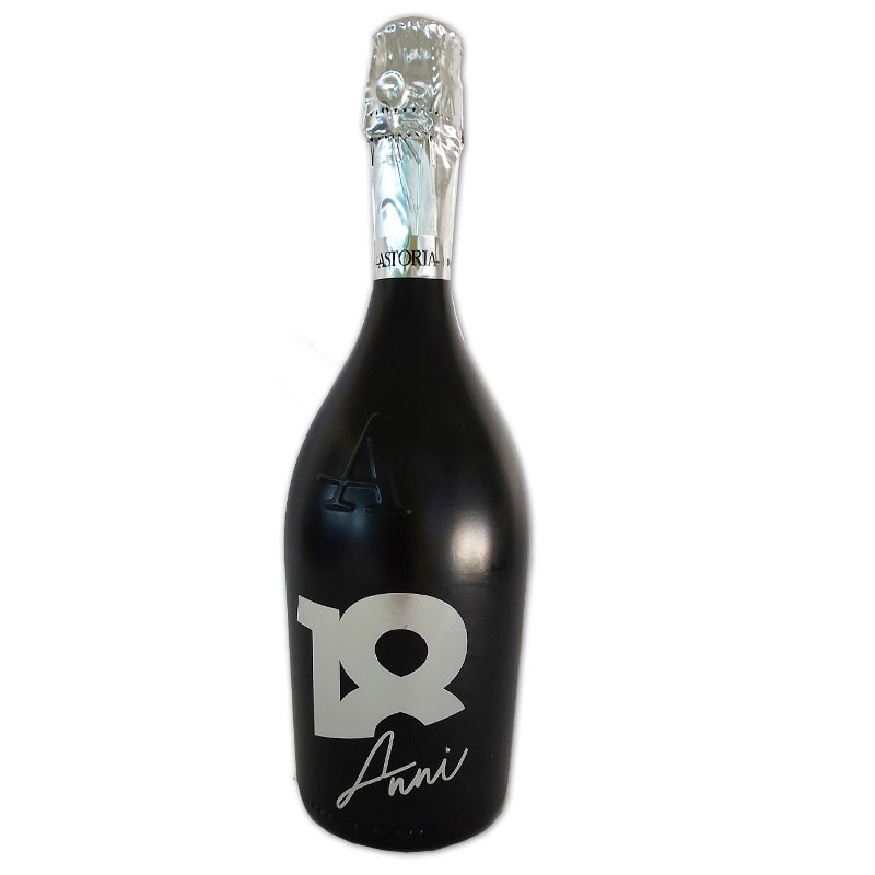 Bottiglia prosecco Astoria brut 0.75 LT black 18 anni