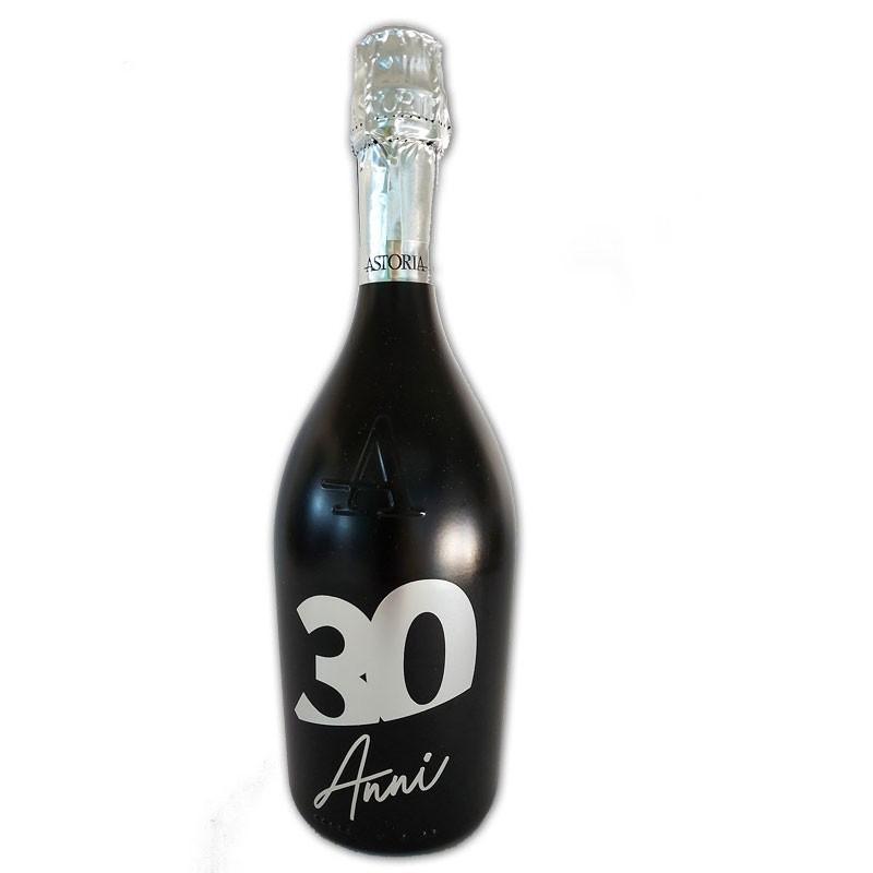 Bottiglia prosecco Astoria brut 0.75 LT black 30 anni