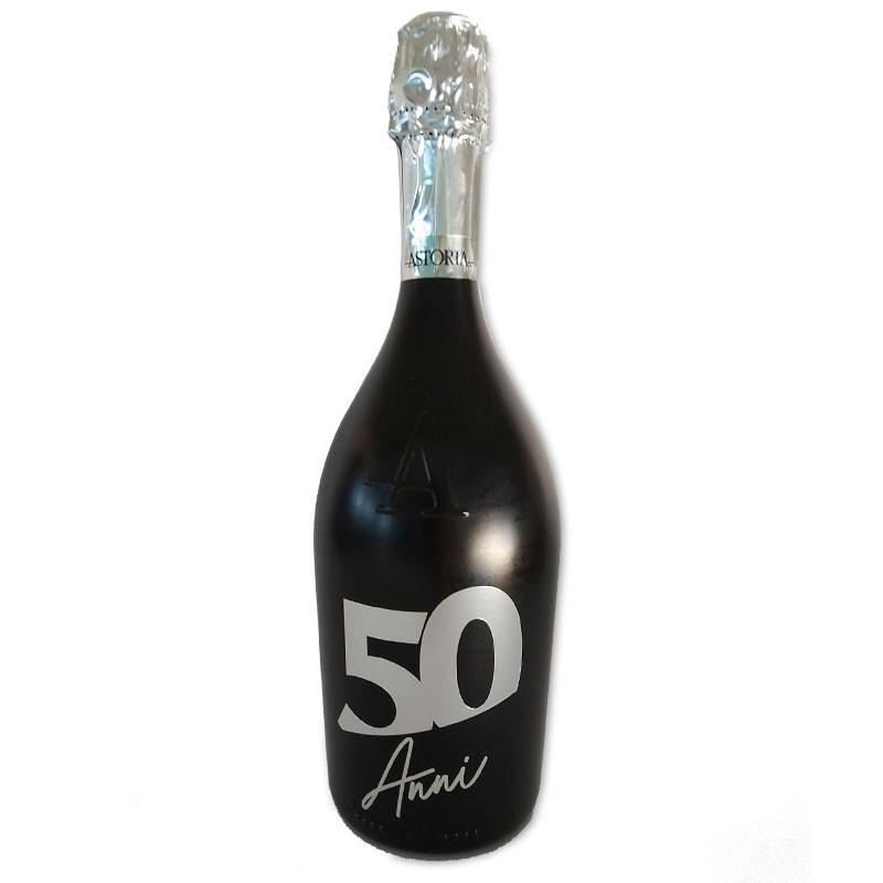 Bottiglia prosecco Astoria brut 0.75 LT black 50 anni
