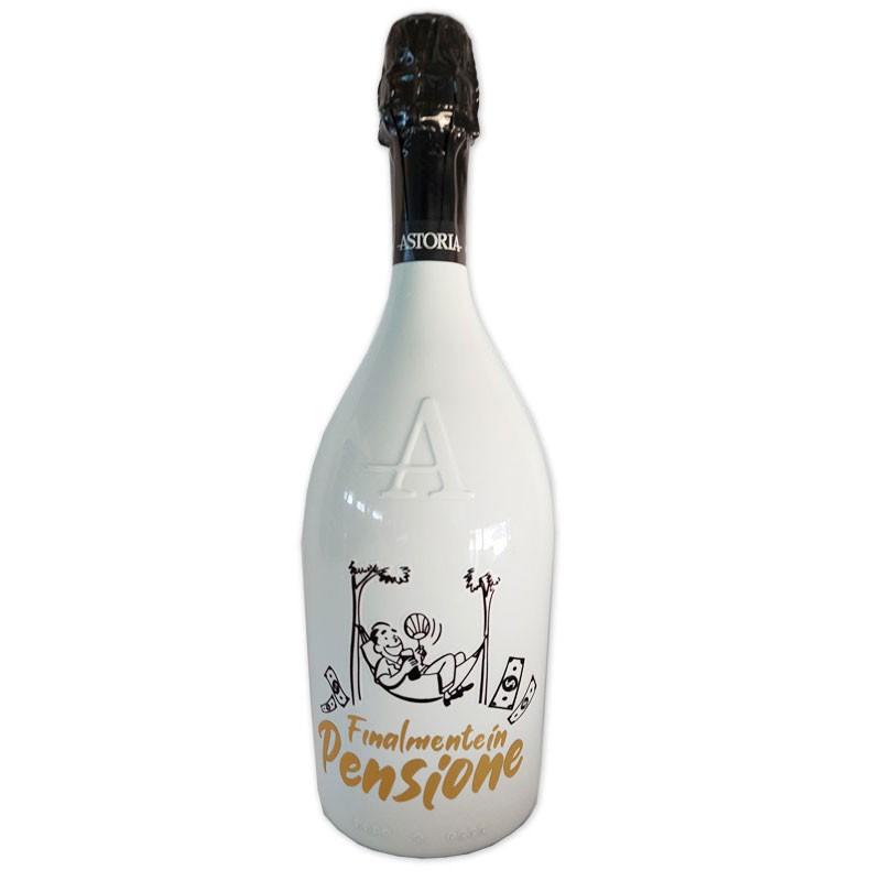 Bottiglia prosecco Astoria brut 0.75 LT white finalmente in pensione uomo