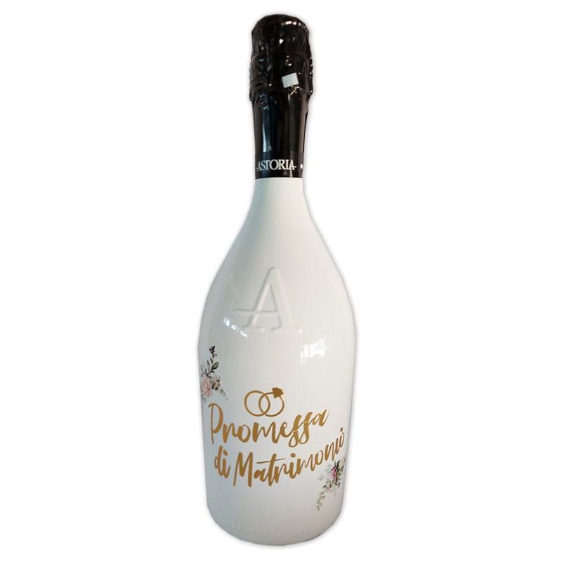 Bottiglia prosecco Astoria brut 0.75 LT white promessa di matrimonio
