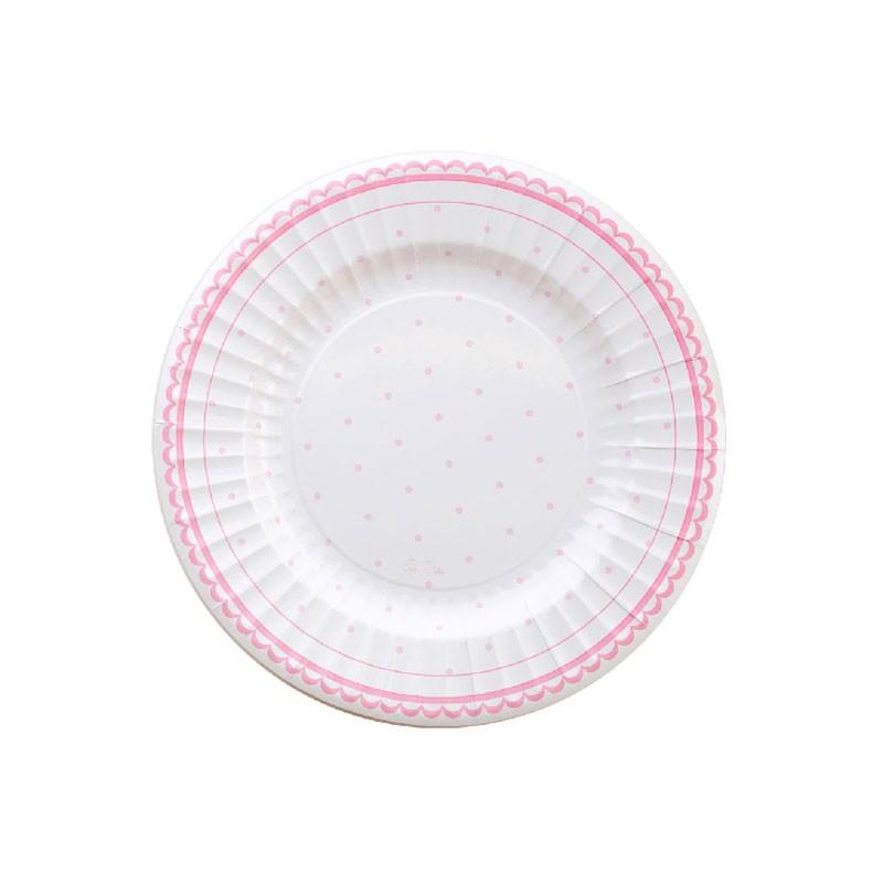 8 piatti cm 21 petit rosa 63743