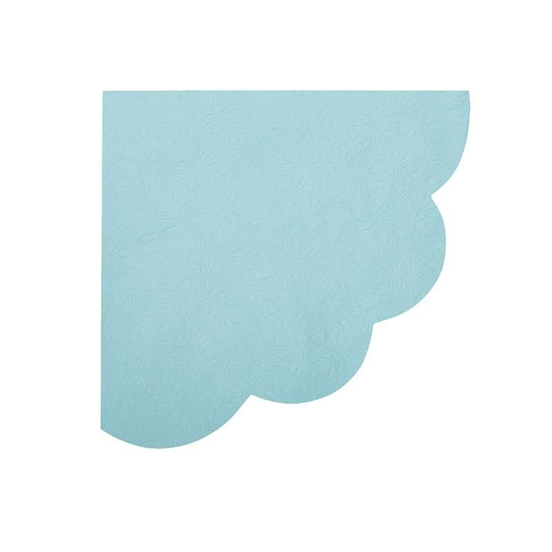 tovaglioli cm 33x33 azzurri smerlettati embossed 16 pz. 60723