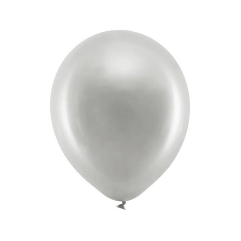 Palloncini 30cm Metallizzati argento RB30M-018-10