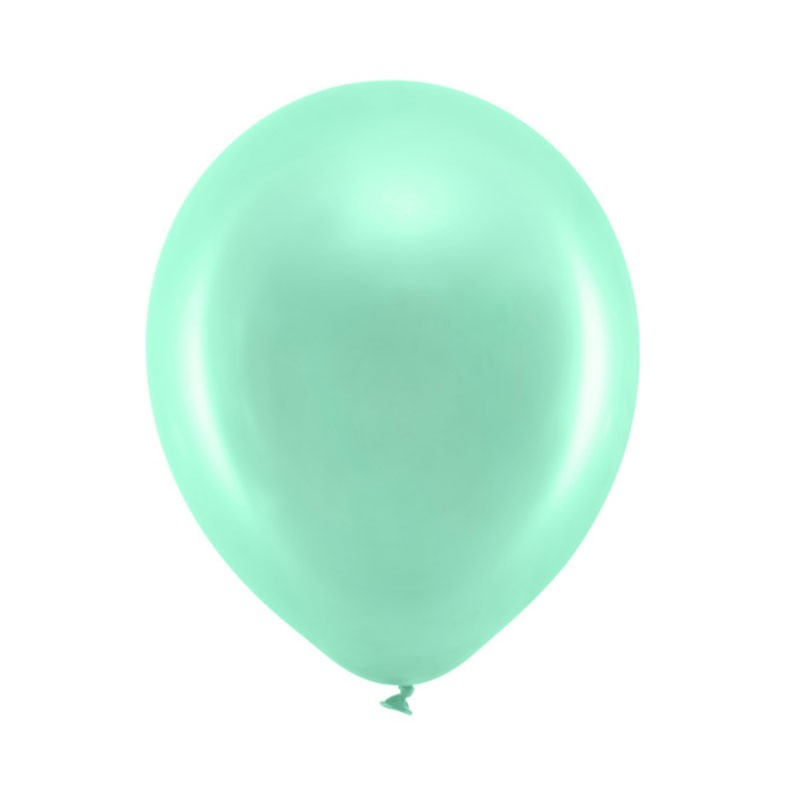 Palloncini 30cm Metallizzati verde menta RB30M-103-10