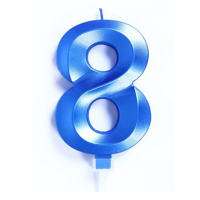 candelina 10 cm luxury blu chrome n.8  C868