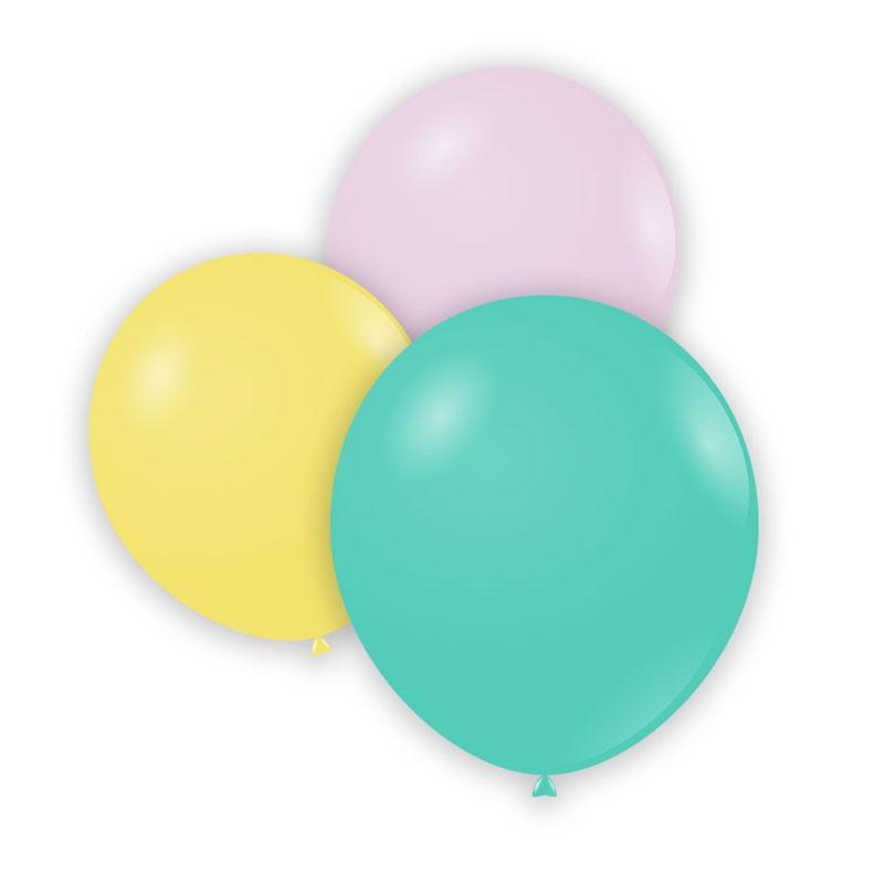 Palloncini in lattice colori pastello assortiti A50 MAC 5 cm 100 pz