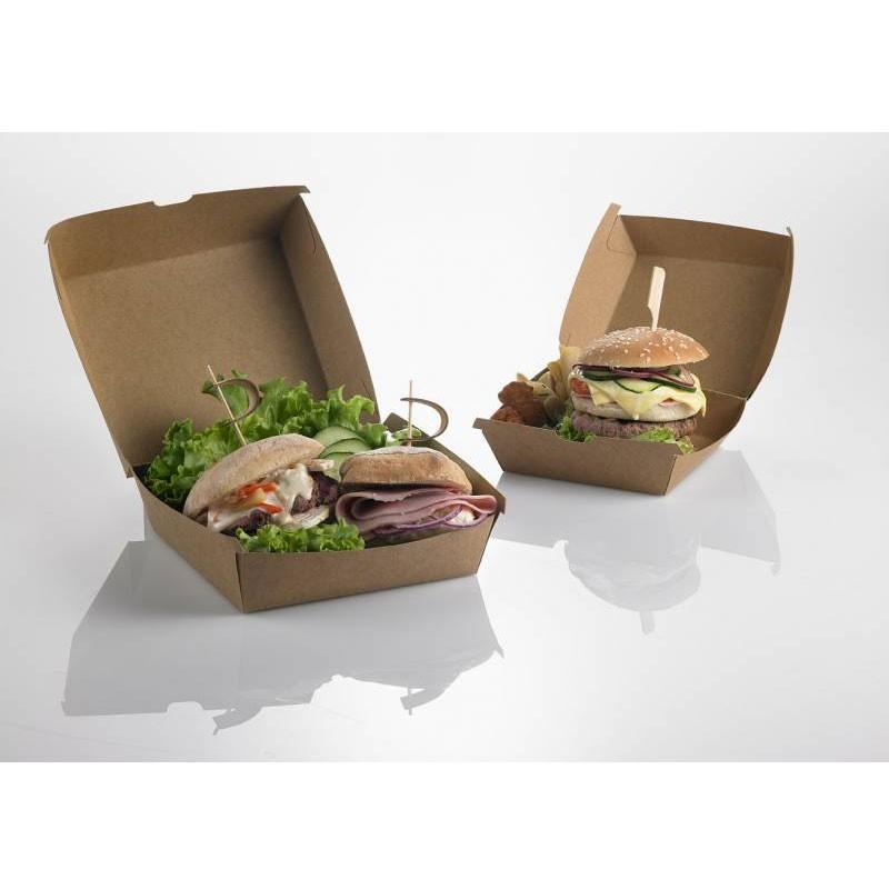Scatola Porta Hamburger in carta kraft 50 pz. H0708 16 x 16 x 9 cm