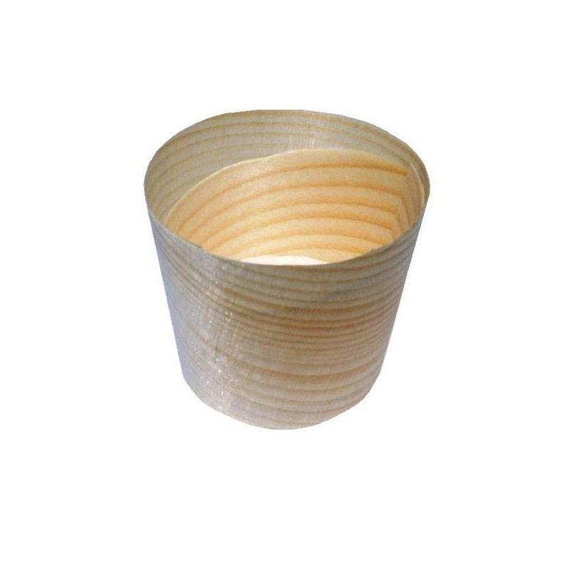 vaschetta in legno cilindrica ø cm.4,5x4,3h S0045 100 pz.