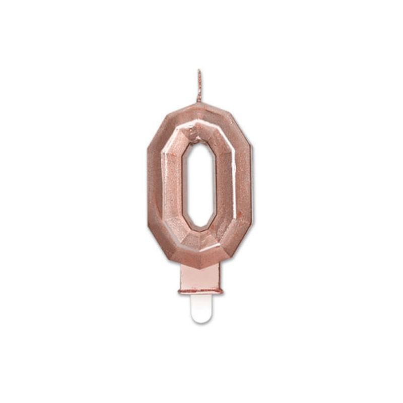 Candelina Diamant rose gold Metal 9 cm numero 0 72920