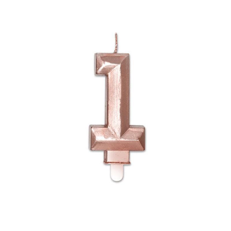 Candelina Diamant rose gold Metal 9 cm numero 1 72921