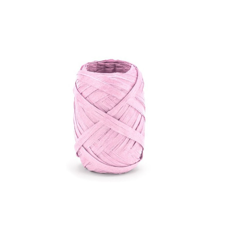 Nastro di rafia, rosa, larghezza ca. 5 mm, lunghezza ca 10 m. RAF1-081J