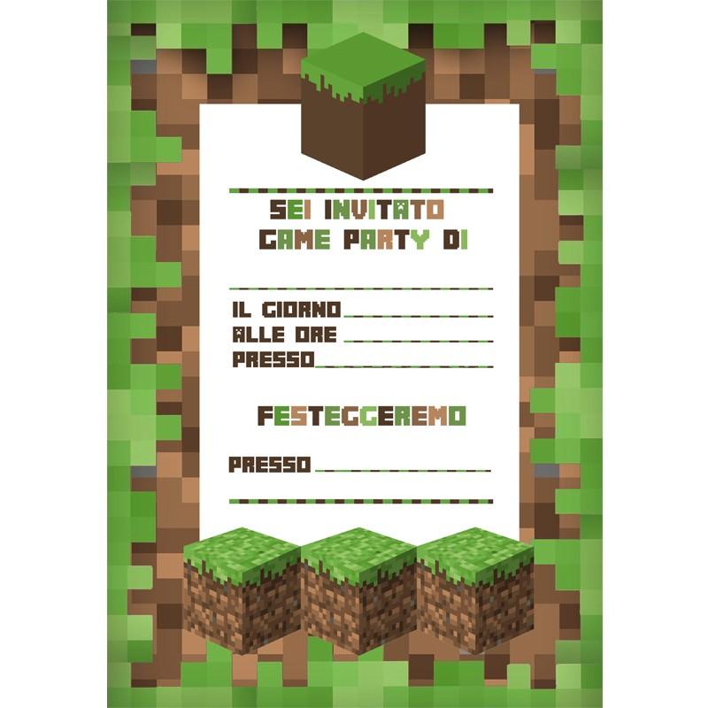 INVITO DI CARTA GAME PARTY