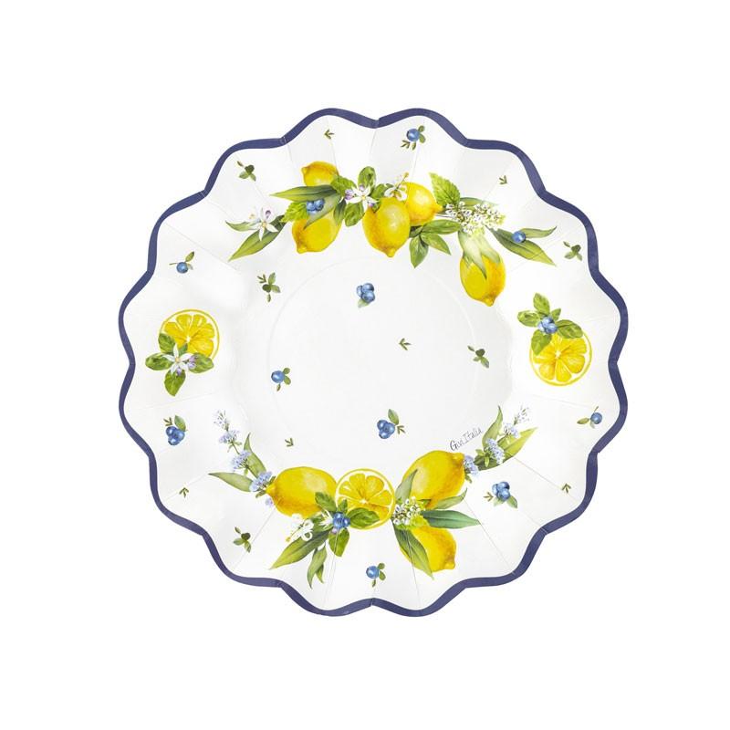 8 piatti cm 27 lemon chic 64105