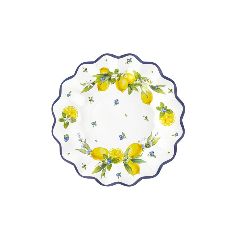 8 piatti dessert 21 cm lemon chic 64106