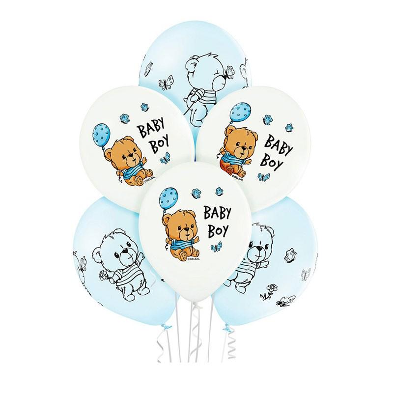 Palloncini in lattice 12 - 30 cm Orsetto Baby Boy 2 disegni assortiti 6 pz 5000671