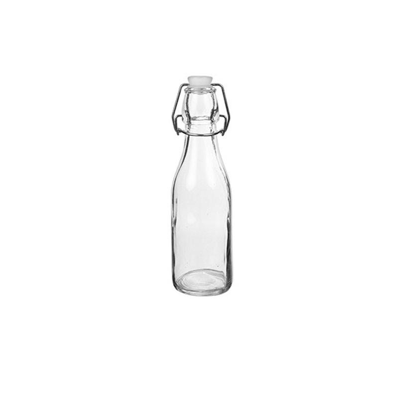 bottiglia vetro con tappo 200 ml  106217 20x6cm