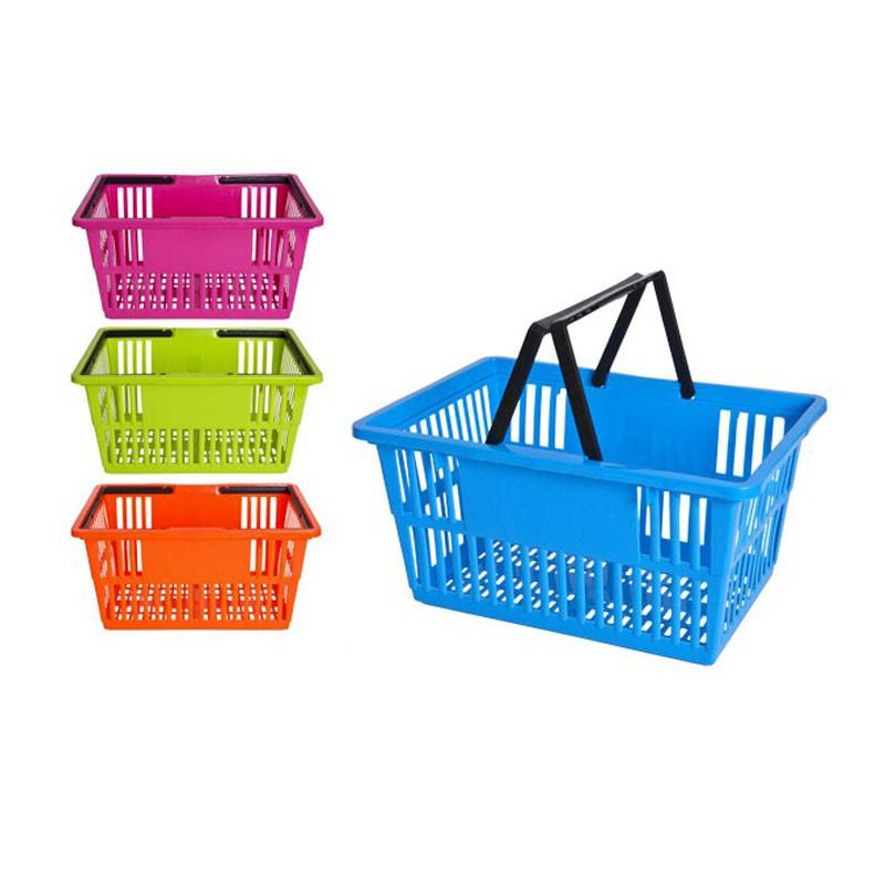 cesta di plastica colori assortiti 44X31X22cm 105184