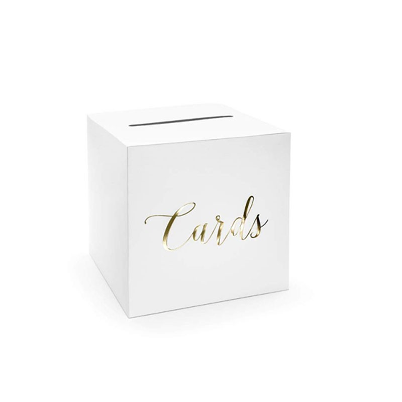 Card Box Matrimonio in carta con scritta dorata cards PUDTM6-019M
