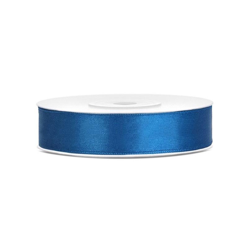 Nastrino in raso blu 1 cm x 25 mt TS12-001